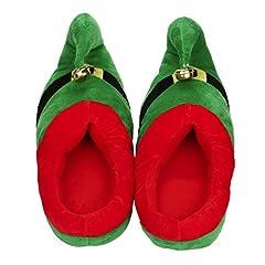 Idea Regalo - Odejoy Pattini Casuali del Cotone della Peluche Unisex Pattini di Inverno Caldi del Pattini di Natale Caldi di Inverno Scarpe Natale Costume Peluche Pantofole (XL, Green)