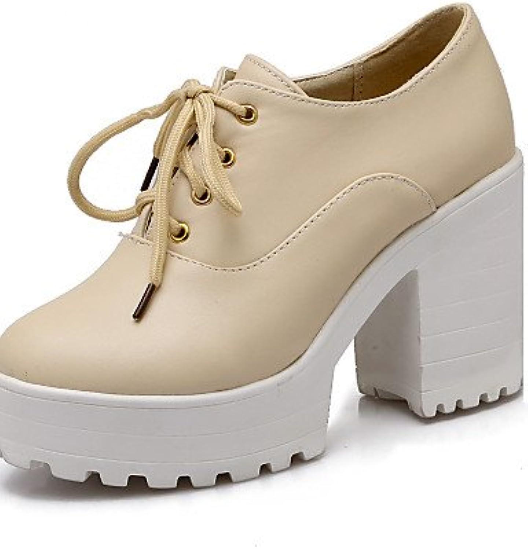 ZQ hug Zapatos de mujer - Tacón Robusto - Tacones / Plataforma / Punta Redonda - Tacones - Oficina y Trabajo /...