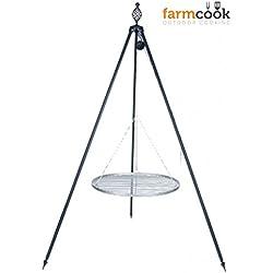 FARMCOOK Schwenkgrill VIKING Dreibein mit Grillrost aus Edelstahl in 4 Größen (Ø 80 cm)
