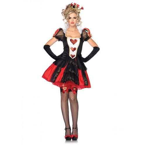 Spielkarten Königin Kostüm - Leg Avenue Dazzling Dark Queen Kostüm XL, 1 Stück