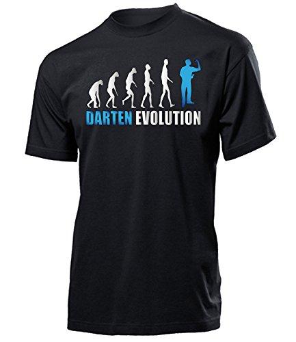 Darten Evolution 4648 Herren T-Shirt (H-SW-Weiss-Blau) Gr. XXL