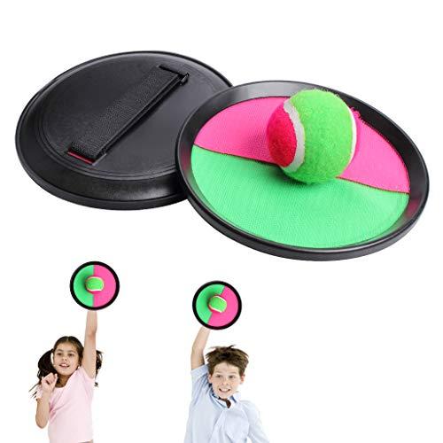 """KELYDI bola juguete captura y sacudida Juego Set Handheld Stick 7 """"Disco para niños infantiles de interior al aire libre juego de actividad"""
