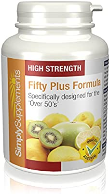 A to Z Multivitamins for Individuals Aged 50 Plus | Includes 13 Different Vitamins & Minerals to Support Energy Levels, Skin Condition, Bone Health & More | 360 Easy to Swallow Tablets by Simply Supplements