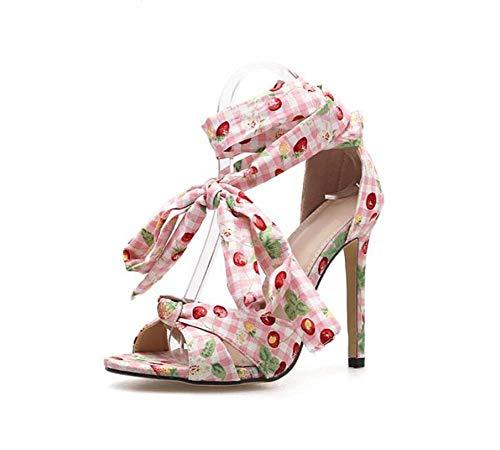 Mamrar Pump Floral Ankle Straps Sandalen Women Open Toe D ' Orsay 11cm Stiletto OL Court Shoes Party Dress Schuhe Eu Size 34-40,Pink,36EU Old Navy Floral Dress