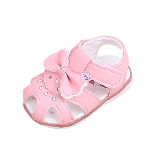 Baby Schuhe Auxma Baby Mädchen Sonnenblume Sandalen beleuchtete Soft-Soled Prinzessin Schuhe (3-6 M, VV) 5m Schuhe