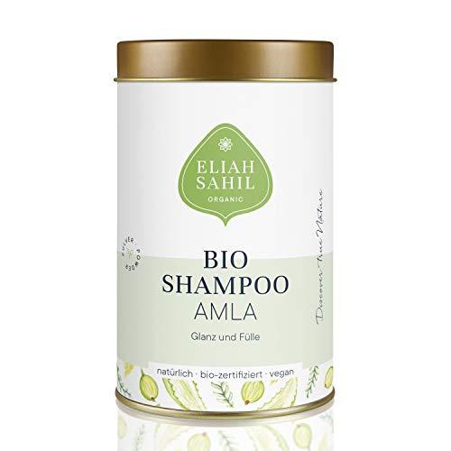 AMLA Bio Pulver Shampoo von ELIAH SAHIL 100 gr. Amla Pulver ca. 30 x waschen - 100{94150b014f740c1c95e816090d0afab52a328e272e81d615498df033a04a6edd} Bio Naturkosmetik Damen und Herren - Anti Haarausfall wirksam gegen Graue Haare
