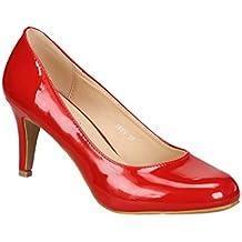 King Of Shoes Klassische Damen Pumps Stilettos Abend Schuhe Party Hochzeit 33-2