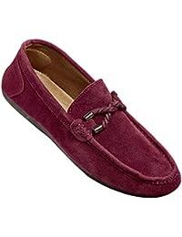 Gtagain Casual Slip On Flat Zapatos Hombre - Hombres Cuero Resbalón Zapatillas Mocasín Mocasines Alpargatas Deportes