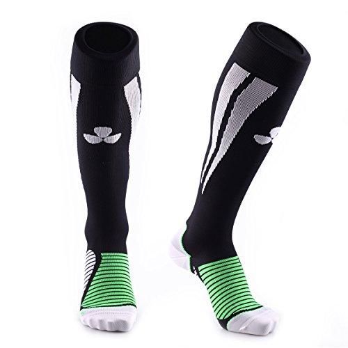 Samson®compression sport socks per calcio rugby running fitness sport gym delle donne degli uomini