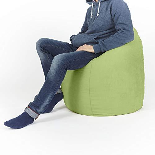 Lumaland Luxury XL Sitzsack stylischer Beanbag 120L Füllung verschiedene Farben Grün – Für alle Altersklassen - 3