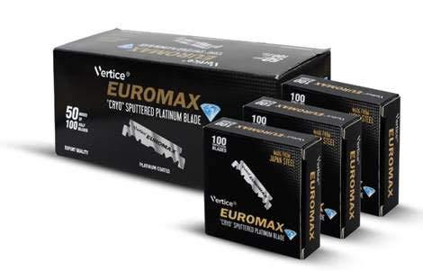 """EUROMAX 100 Einseitige Rasierklingen\""""CRYO SPUTTERED\"""", 50 g"""
