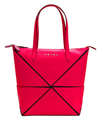 cross-womens-genuine-leather-origami-big-collapsible-hand-bag-fuchsia