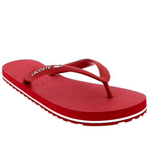 Lacoste Nosara Lcr Spm, Tongs Homme Sombre Rouge/Blanc