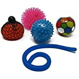 5pc Set Of Children's Sensory Toys | For Kids & Adults - Stress Squishy Toys For Autism