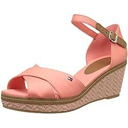 Tommy Hilfiger Damen E1285LBA 31D Knöchelriemchen, Pink (Burnt Coral 619), 39 EU