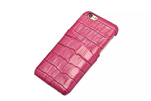iPhone 6/6S plus Caso, Moda Coccodrillo Texture +Davvero Slot di scheda cintura + Slim PC Shell per iPhone 6/6S plus caso (Rose) Rose
