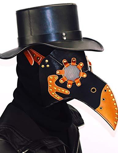 Frauen Teufel Beängstigend Kostüm - Horror Halloween, Steampunk Scharfen Mund Beängstigend Cosplay Zombie Teufel Pest Maskerade Party Kostüm Maske,A109