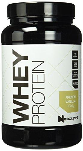 Premium Whey Protein für Muskelaufbau & Abnehmen in leckeren Geschmäckern | Low Carb Eiweiß-Shake, Eiweiß-Pulver mit Aminosäuren (BCAA) | 1kg NeoSupps Protein Pulver - Vanille / French Vanilla