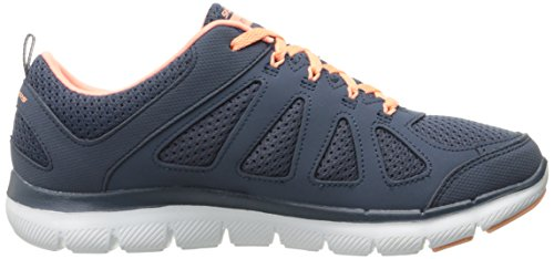 SKECHERS Flex Appeal 2.0-Simplistic Damen Sneaker schwarz Mehrfarbig (slate/coral)