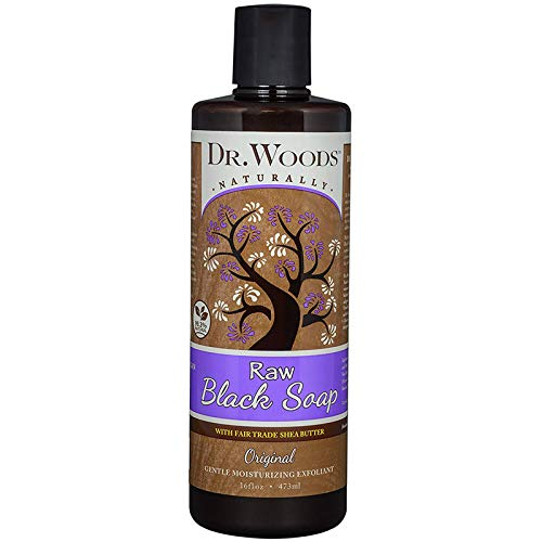 Dr Woods Soap, Black with Shea Butter - 16 Ounce by Dr. Woods