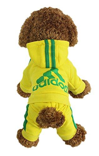 LifeWheel Hundemantel Warm Wintermantel Haustier Mantel Hund Kleider, gelb S