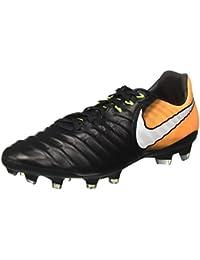 Nike Tiempo Legacy III Fg, Scarpe da Calcio Uomo, Nero (Black/White-Black-Metallic Vivid Gold), 45.5 EU