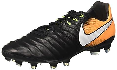 Nike Herren Tiempo Legacy III FG Fußballschuhe, Schwarz (Black/White/Laser Orange/Volt), 46 EU