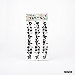 Tatuajes margaritas en negro