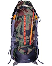MOUNT TRACK Discover Nylon Camouflage Rucksack with Rain Cov