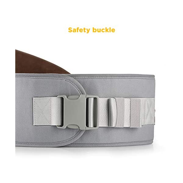 GAGAKU Baby Hip Seat Carrier Lightweight Baby Waist Carrier - Grey GAGAKU Material: 100% cotton fabric; Inner pad is made of EPP shock absorbent foam, safe and no deformation; Age Stages: Suitable for babies from 0-36 months and load bearing 0 to 44 lbs (0 - 20 KG); Slope Design: 30 degrees tilt designed Hip-seat provides proper support of baby's legs, hips and spine, and the surface covered with anti-slip treatment; 3