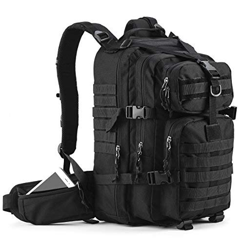Gelindo Military Tactical Backpack, Hydration Backpack, Army Molle Bug-Out Bag, Small Rucksack for Hunting, Survival, Camping, Trekking, 35L -