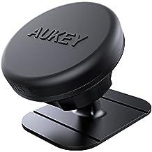 AUKEY Supporto Smartphone Auto Magnetico Adesivo su Cruscotto Porta Cellulare Auto Universale per iphone 7 / 7 Plus / 6 / 6s , Samsung S8 ecc. ( Nero )