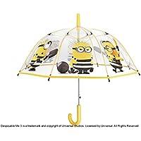 PERLETTI 75065 Boy 45/8 Aut Dome Forma Poe Transparente con Estampado Minions Paraguas