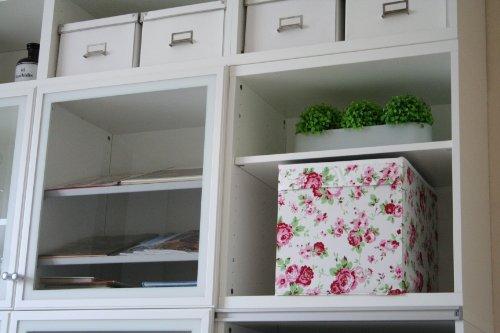 """IKEA Regalfach \""""DRÖNA\"""" Aufbewahrungsbox Regaleinsatz in 33x38x33 (BxTxH) mit Rosenmuster"""