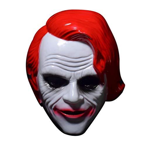 Xinwcanga Cool Helle Farbe Karneval & Halloween Halbmaske-Super-Dude Clown Maske (Rot, One size) (Cool Dude Kostüm)
