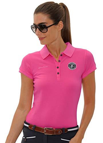 SPOOKS Poloshirt Damen Mädchen Kinder, Polo Shirt tailliert Sommer Tshirt Hemd Sport - Damenpoloshirts Kurzarm Viktoria - pink l