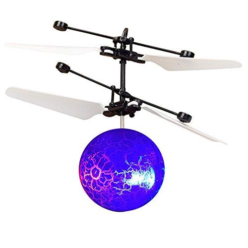 Sulifor Intelligente Induktion fliegenden Ball, RC Fliegende Drohne Hubschrauber Ball eingebautes glänzendes LED-Beleuchtung Kinderspielzeug