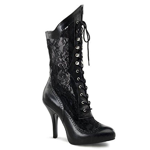 High Heels Stiefelette, Damen, Schwarz (schwarz) Schwarz (Schwarz)