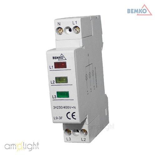Leuchtmelder Phasenkontrollleuchte Phasenprüfer Phasenlampe 3-Phasen Multi-LED