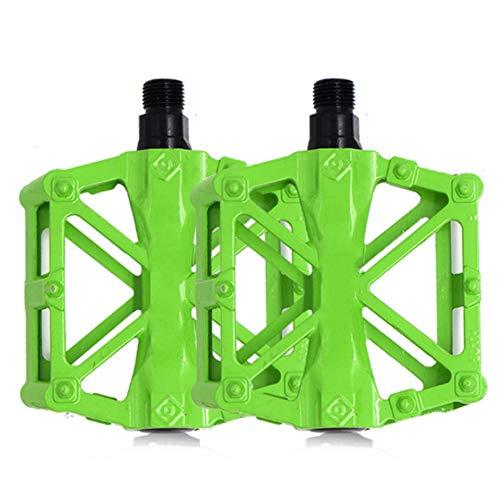 Fahrradpedale Fahrradpedale Lagerachsen Anti-Rutsch-Pedale für Rennräder grün