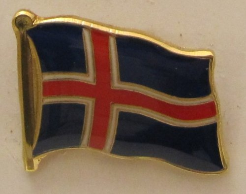Pin Anstecker Flagge Fahne Island Nationalflagge Flaggenpin Badge Button Flaggen Clip Anstecknadel