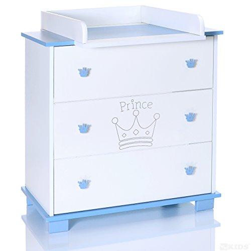 LCP KIDS Baby Wickelkommode Prinz blau weiss mit 3 gebraucht kaufen  Wird an jeden Ort in Deutschland