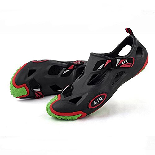 Weiche Loch-Schuhe Art- und Weisesandelholze für Männer und Frauen rutschfest und atmungsaktiv black green