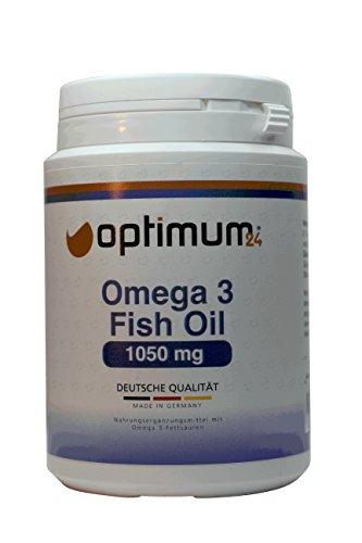Omega-3 hochdosiert 210 Kapseln| Reines hochdosiertes Fischöl 525 mg EPA & 350mg DHA auf 1050 mg | gesunde Fisch-Öl Kapseln | 100% Geld zurück Garantie | kein Fischgeschmack