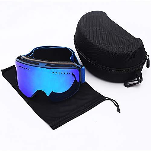 Jt occhiali da sci uomo e donna adulto doppio anti nebbia outdoor attrezzature sportive,blue,onesize