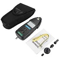 Tacómetro digital, Contacto Velocidad del tacómetro digital Medidor de RPM digital Tacómetro Pantalla LCD de mano RPM Medidor de tacómetro, DT2236B Medidor de tacómetro de RPM