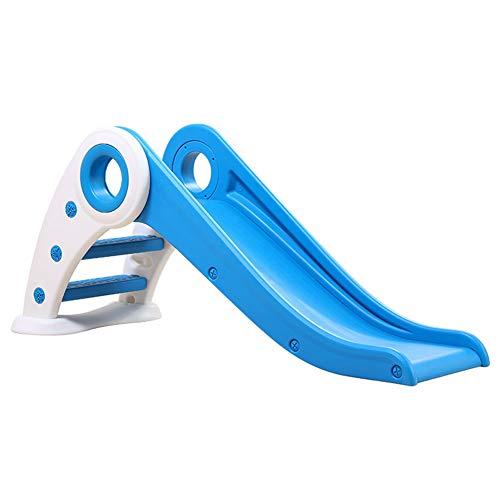 Thole Kunststoff Kinderrutsche Gartenrutsche Kleinkinderrutsche Falten Rutschbahn Kinderspielplatz für Indoor/Outdoor Garten Kinder,Blue