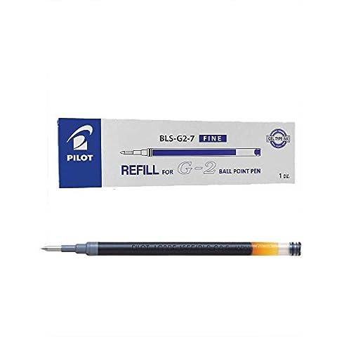 Pilot Refill for G207/G2Ltd/B2P Gel/MR 0.7 mm (Box of 12) - Blue