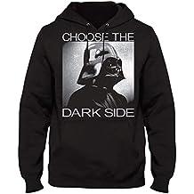 STAR WARS Sudadera con Capucha Darth Vader Elige el Lado Oscuro con Capucha Negro