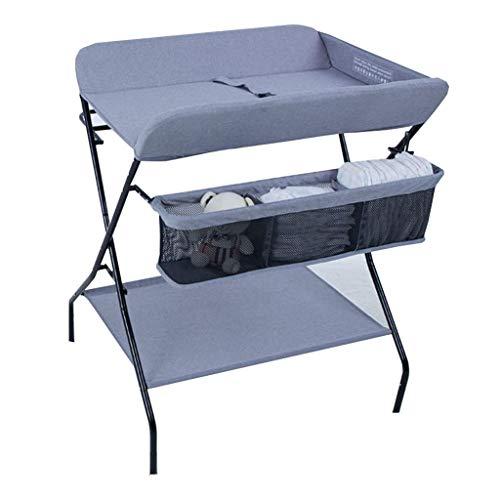 QZ Tables à Langer Table à Langer Portable pour bébé, Restaurant/Coin/Chambre de bébé, Organisateur de Rangement pour Bambin Se Pliant avec Rangement, 0-3 Ans (Color : Blue)